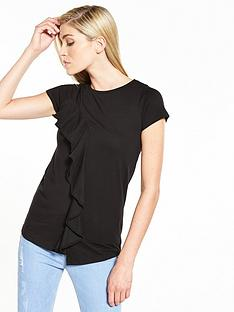 v-by-very-asymmetric-frill-top-black