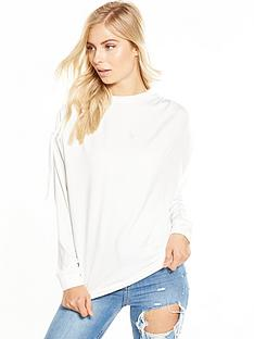 v-by-very-ruched-sleeve-sweat-ivory