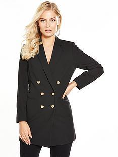 v-by-very-longline-blazer-black