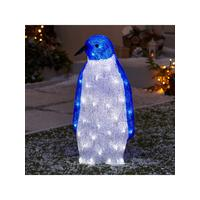 spun acrylic light up penguin outdoor christmas decoration littlewoodscom