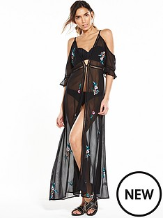river-island-river-island-embroidered-cold-shoulder-maxi-kaftan