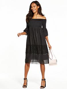max-edition-sheer-panel-dress