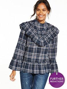 max-edition-check-blouse