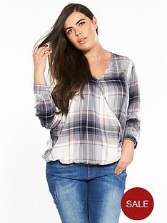 v-by-very-curve-wrap-checked-shirt