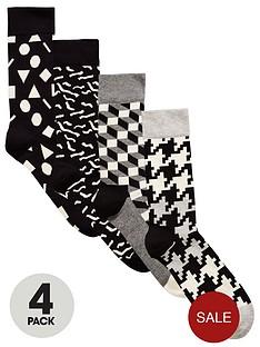 happy-socks-4pk-monochrome-sock
