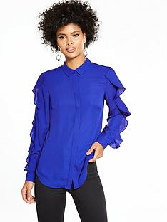 v-by-very-ruffle-sleeve-blouse-electric-blue
