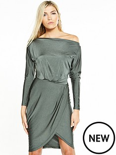 ax-paris-off-shoulder-slinky-dress-khaki