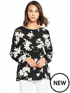ax-paris-frill-hem-floral-top