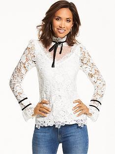 myleene-klass-mesh-lace-blouse