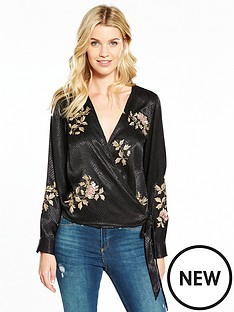 v-by-very-embroidered-wrap-blouse