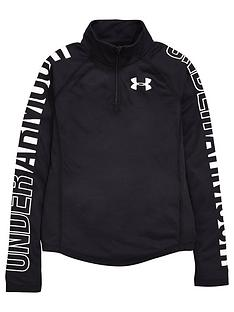 under-armour-under-armour-girls-14-zip-threadborne-long-sleeve-top