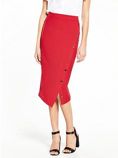 v-by-very-the-button-midi-skirt-crimson