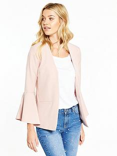 v-by-very-fluted-cuff-jacket-pink