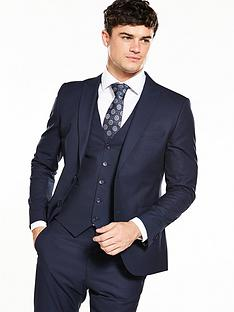 v-by-very-mens-slim-fit-check-suit-jacket