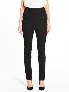 v-by-very-high-waisted-slim-leg-ponte-trouser-black