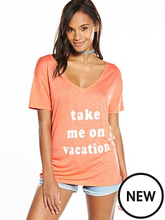 v-by-very-vacation-slogan-t-shirt-coral