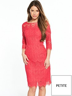 wallis-petite-lace-scallop-dress