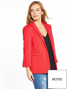 wallis-petite-ribbed-ponte-jacket