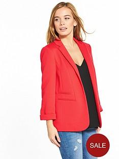 wallis-petite-ribbed-ponte-jacket