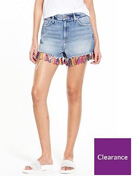 river-island-river-island-coloured-tassel-denim-shorts