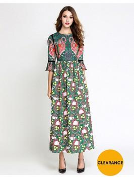 comino-couture-multi-print-flamingo-maxi-dress