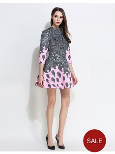 comino-couture-cpink-feather-dress