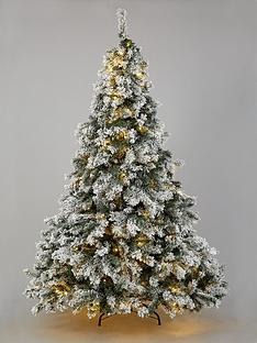 6ft-flocked-pre-lit-downswept-pine-christmas-tree