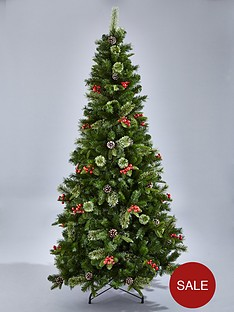 rutland-christmas-tree-with-berries-and-pine-cones-7ft