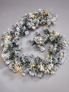 pre-lit-flocked-emperor-christmas-garland