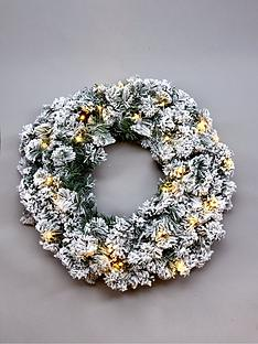 pre-lit-flocked-emperor-wreath