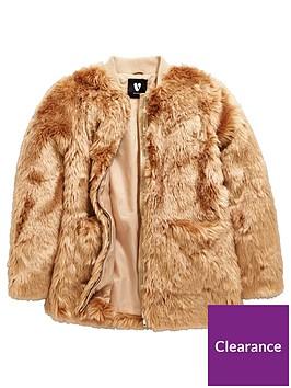 v-by-very-girls-faux-fur-long-line-coat