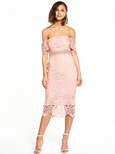 river-island-lace-bardot-midi-dress