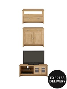 consort-tivoli-wide-tv-unit-ready-assembled-3-piece-living-room-set-wide-tv-unit-compact-sideboard-and-coffee-table-oak-effect-creamoak-effect-5-day-express-delivery