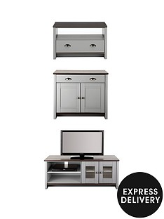 consort-tivolinbspwide-tv-unit-ready-assembled-3-piece-living-room-set-wide-tv-unit-compact-sideboard-and-coffee-table-grey-5-day-express-delivery