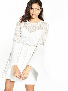 river-island-lace-flute-sleeve-dress