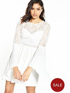 river-island-lace-flute-sleeve-dress