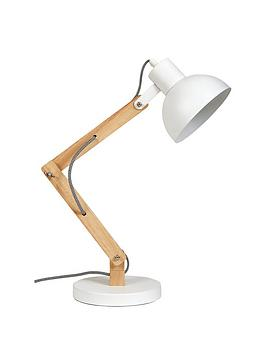 ideal-home-logan-white-amp-wooden-desk-lamp
