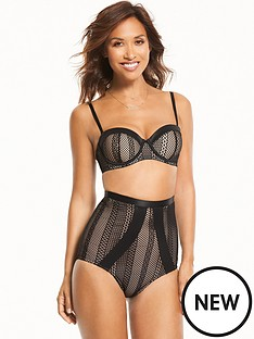 myleene-klass-open-mesh-waist-nipper-black