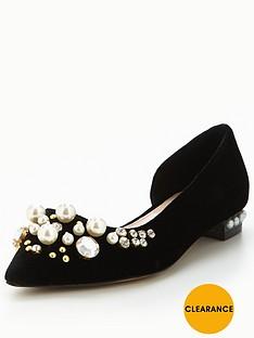 carvela-locket-pearl-flat-black