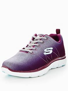 skechers-flex-appeal-20-bright-side-lace-up-trainer-burgundy
