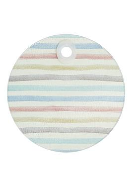 Kitchen Craft Kitchen Craft Round Toughened Glass Worktop Saver Classic Stripe 24Cm