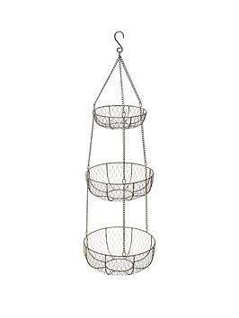 Kitchen Craft Kitchen Craft Wire Three Tier Hanging Storage Baskets