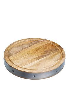 kitchen-craft-industrial-kitchen-round-mango-wood-butchers-block-36x5cm
