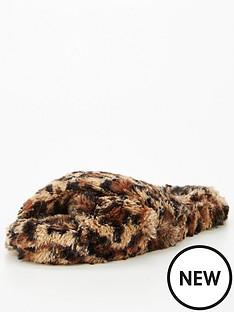 v-by-very-caramel-fluffy-cross-over-mule-slipper-animal