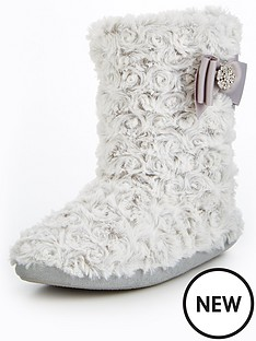 v-by-very-koko-curly-fur-bow-detail-bootie-white