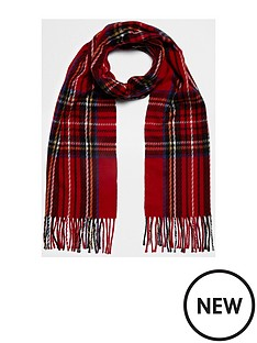 river-island-red-tarten-scarf