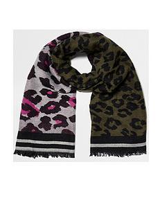 river-island-khaki-leopard-scarf