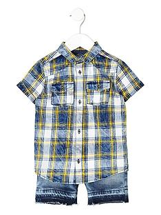 river-island-mini-boys-blue-check-shirt-and-shorts-outfit