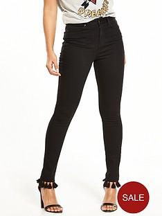 v-by-very-ella-high-waist-tassle-trim-skinny-jean-black