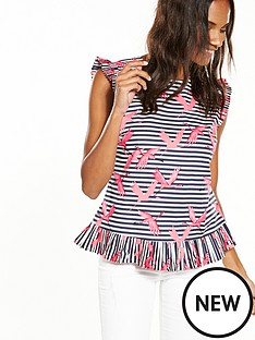 oasis-oasis-stripe-flamingo-shell-top